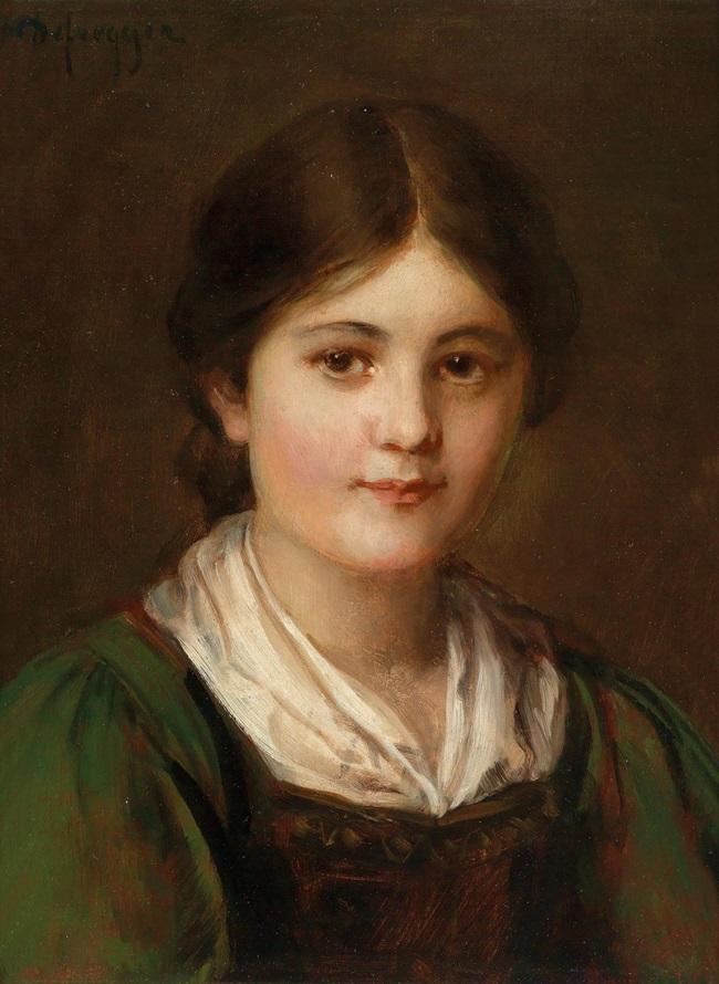 Молодая девушка в традиционном костюме