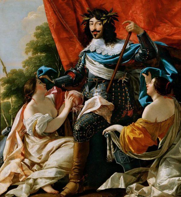 Аллегорический портрет Людовика XIII между Францией и Наваррой