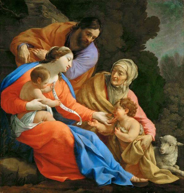 Святое Семейство со св Елизаветой и маленьким Иоанном Крестителем