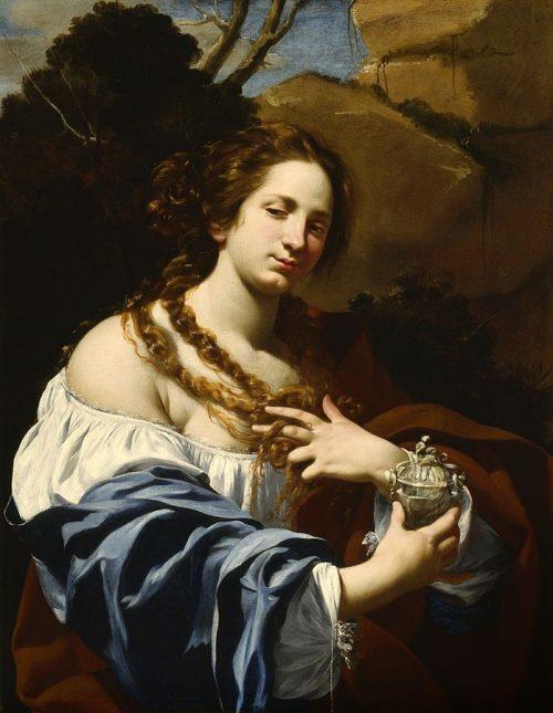 Вирджиния да Веццо, жена художника, в образе Магдалены
