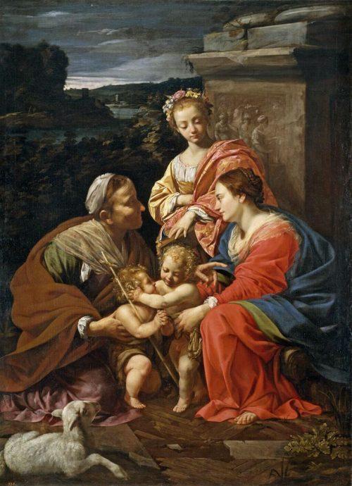 Мадонна с младенцем со святыми Елизаветой, Каталиной и маленьким Иоанном Крестителем