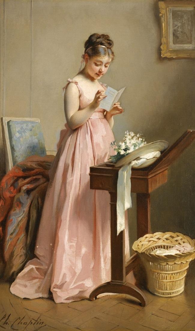 Девушка, читающая письмо