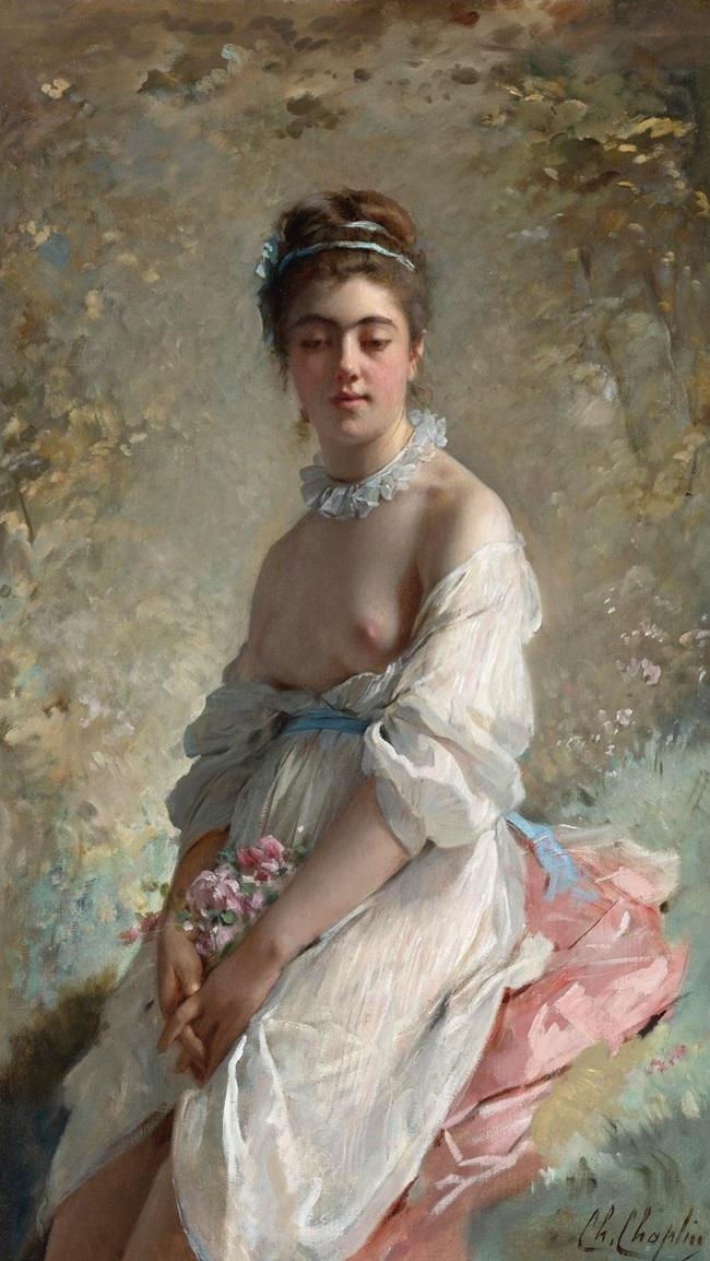 Портрет дамы с букетом