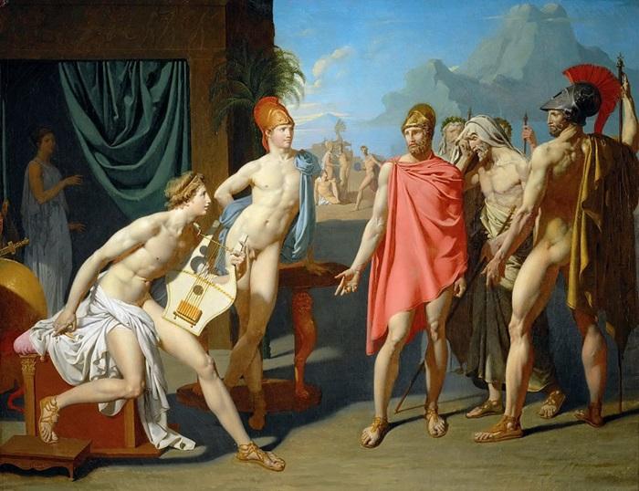 Ахиллес приветствует послов Агамемнона.