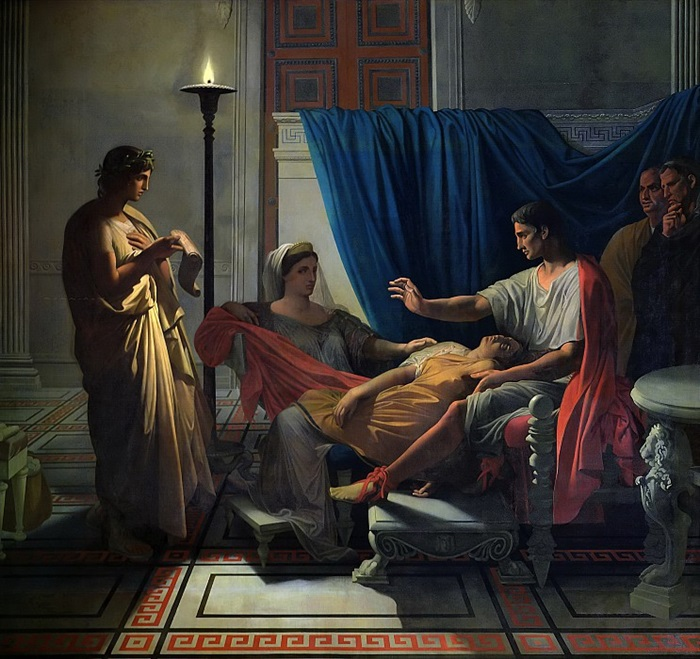 Вергилий, читающий Энеиду Ливии, Октавии и Октавиану Августу