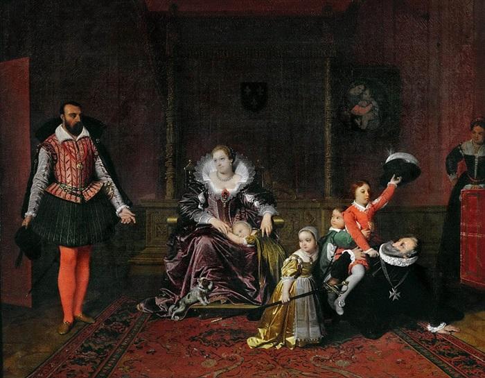 Испанский посол застает Генриха IV играющим со своими детьми