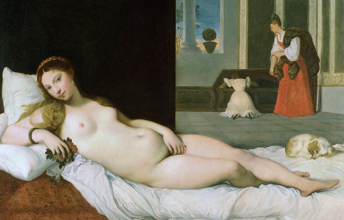 Лежащая Венера (копия Венеры Урбинской Тициана)