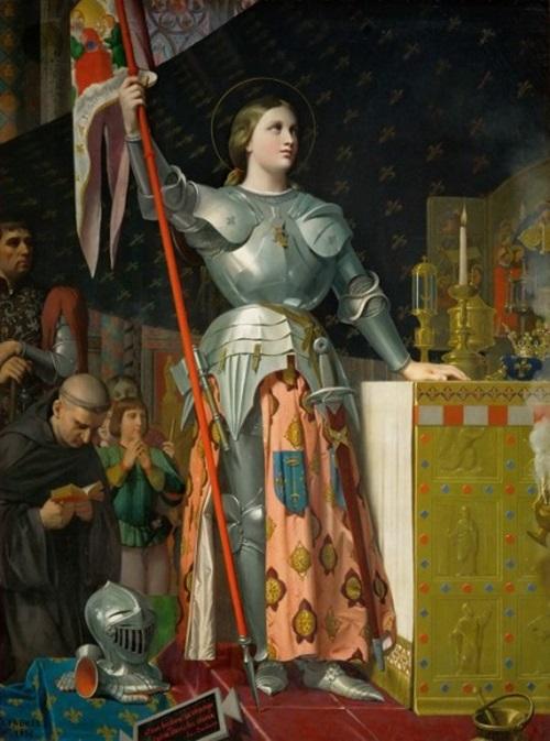 Жанна Дарк на коронации Карла VII в Реймском кафедральном соборе в 1429 году