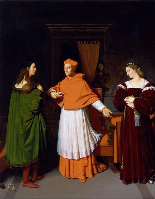 Обручение Рафаэля и племянницы кардинала Биббьены.