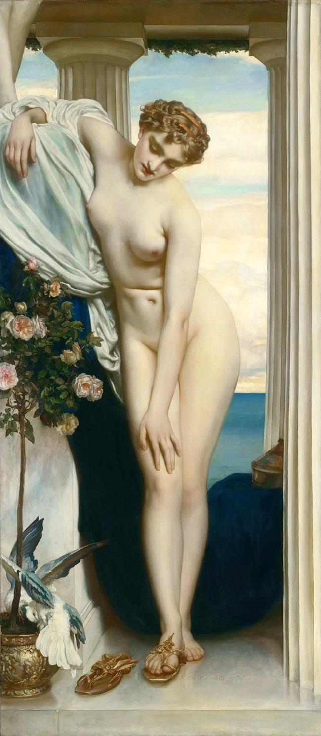 Венера, раздевающаяся перед купанием
