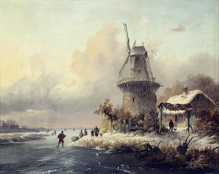 Фигуристы у ветряной мельницы