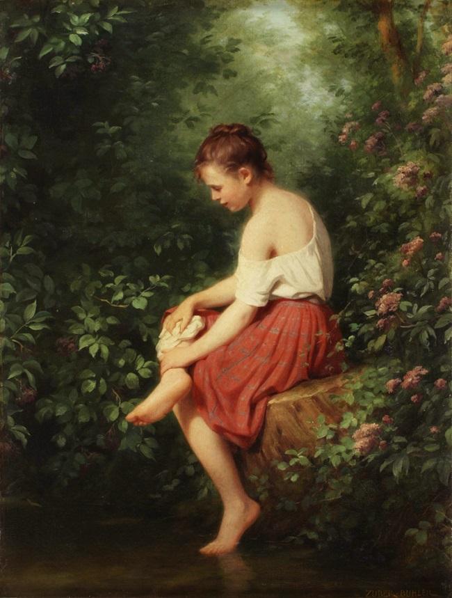Женщина на пруду