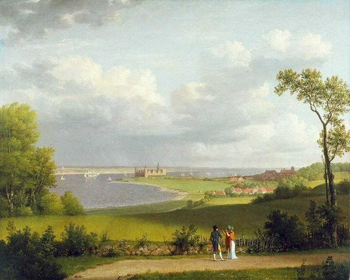 Вид к северу от замка Кронбор.