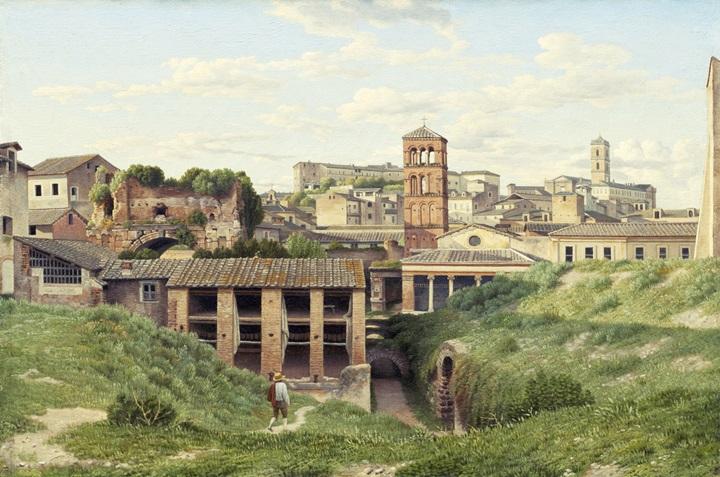 Вид на клоаку Максима, Рим.