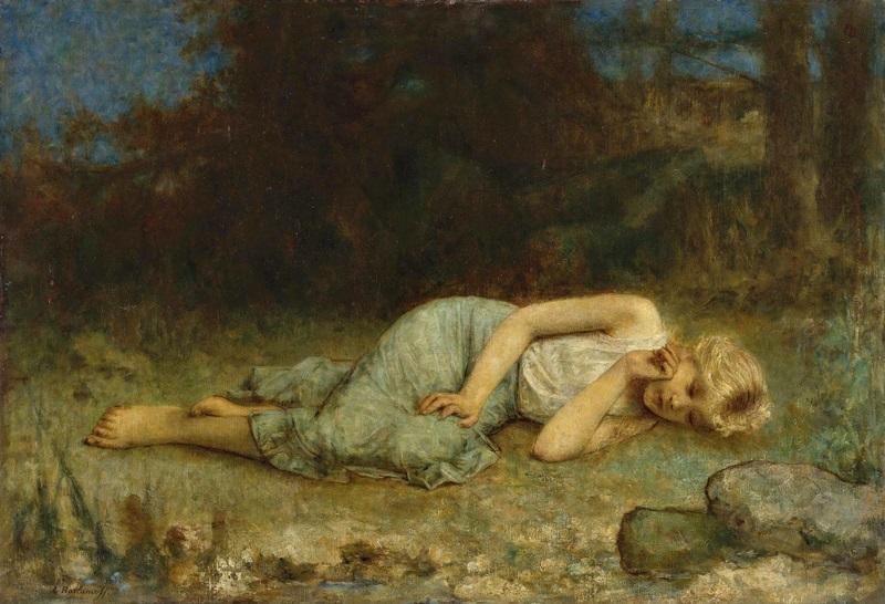 Отдыхающая девушка