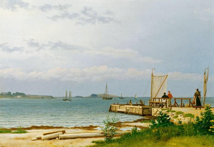 Вид на Костер от пристани в Каллехаве.