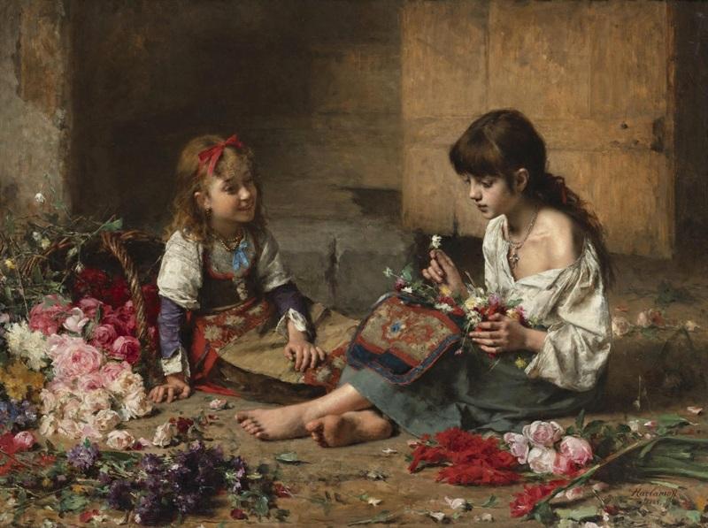 Юные цветочницы