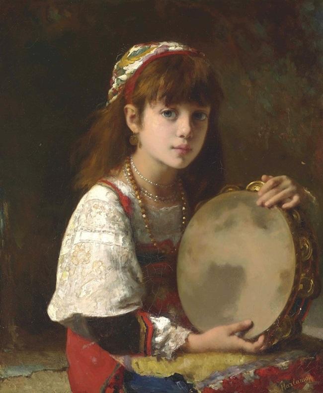Девочка с тамбурином