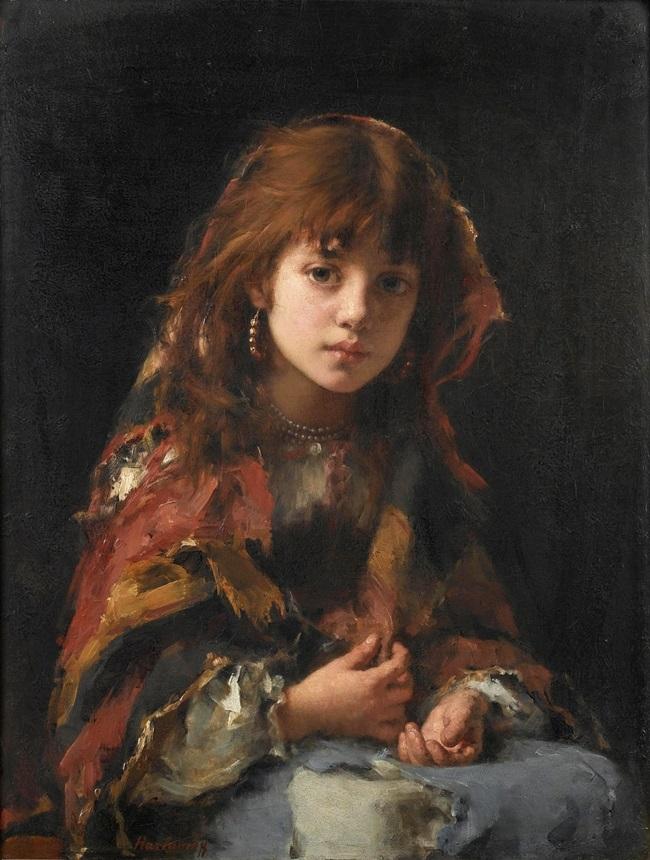 Девушка в пестром платке
