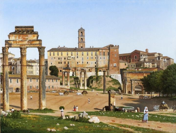 Вид на форум в Риме.