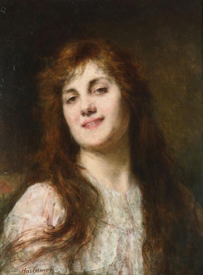 Красавица с каштановыми волосами