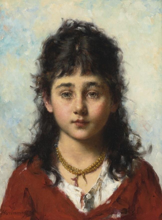 Портрет девочки с ожерельем