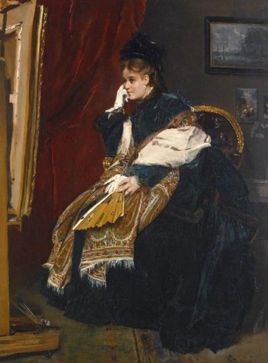 Дама в мастерской художника