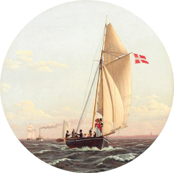 Плавание из Копенгагена в Шарлоттенлунн.