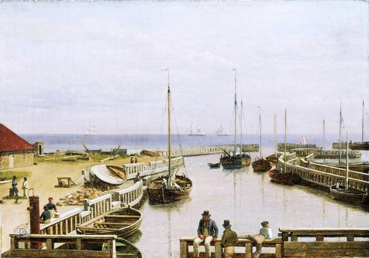 Порт в Драгоре, Дания.