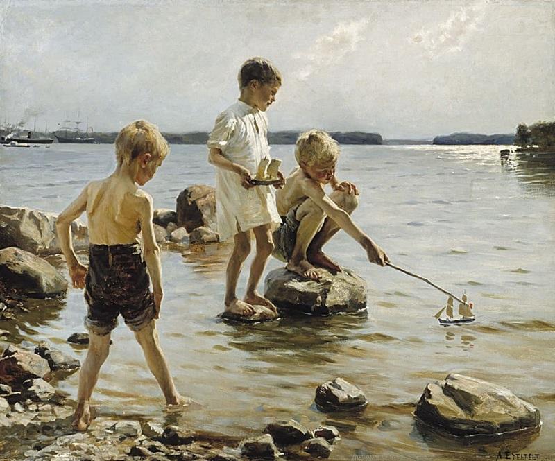 Мальчики у воды