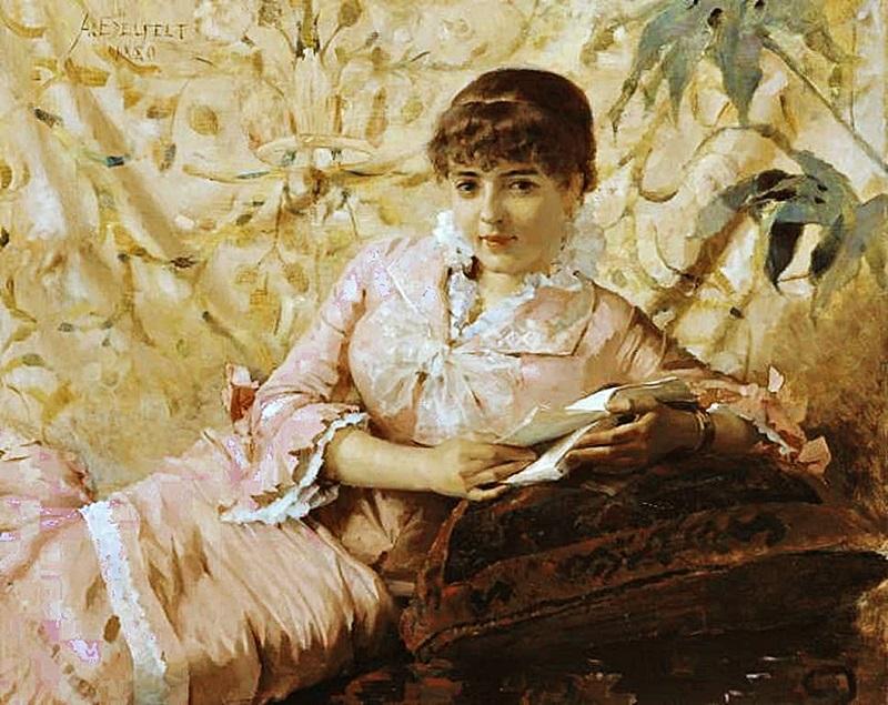 Читающая парижанка