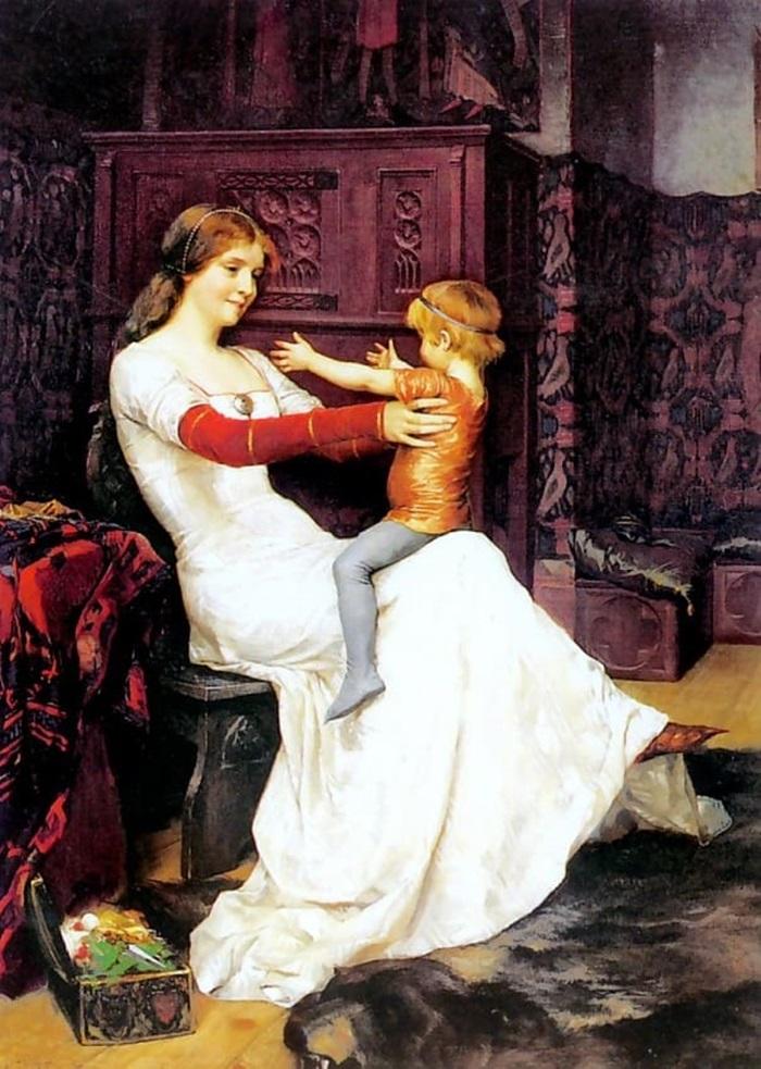 Королева Бланка с ребёнком