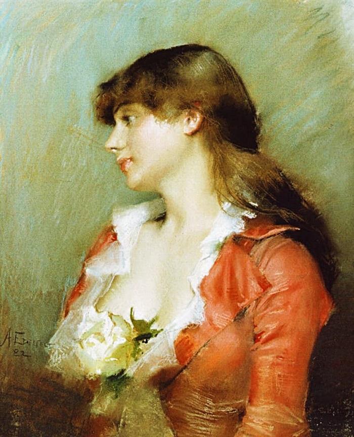 Профиль молодой женщины