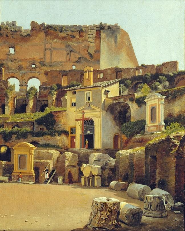 Интерьер Колизея в Риме.