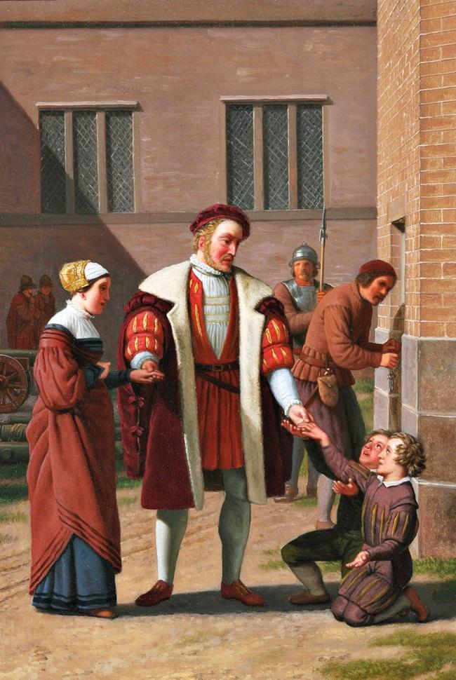 Король Фридрих I выпускает вдову Стена Стюре с детьми из тюрьмы.