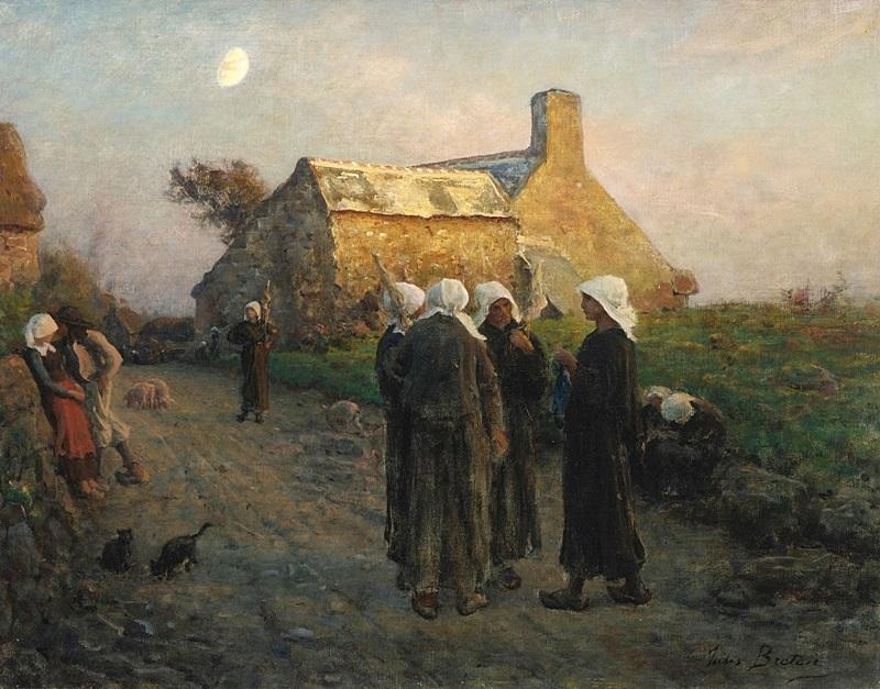 Вечер в деревне Финистера.