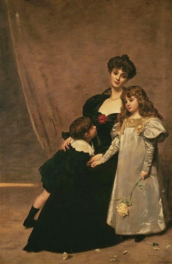 Мать с детьми (Мадам Фейдо и ее дети)