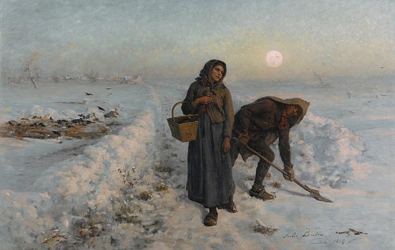 На зимней дороге, Артуа.