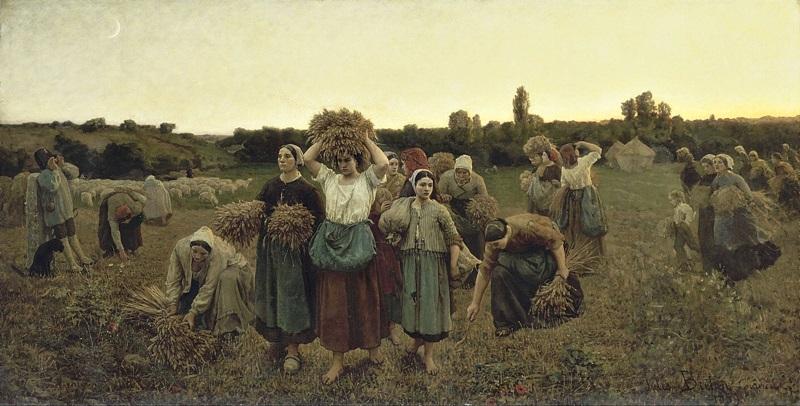 Сбор собирательниц колосьев.