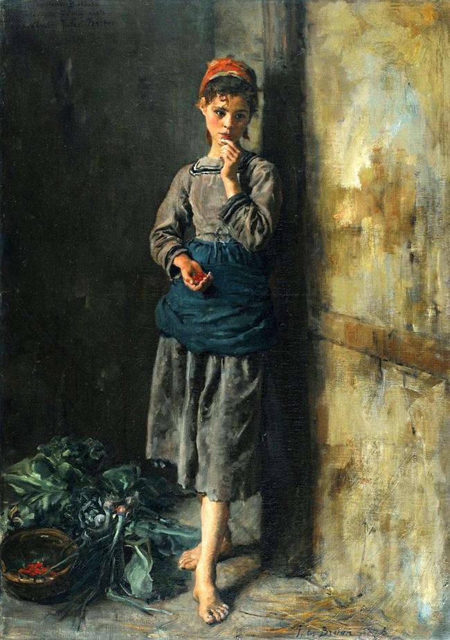 Девочка с вишнями.