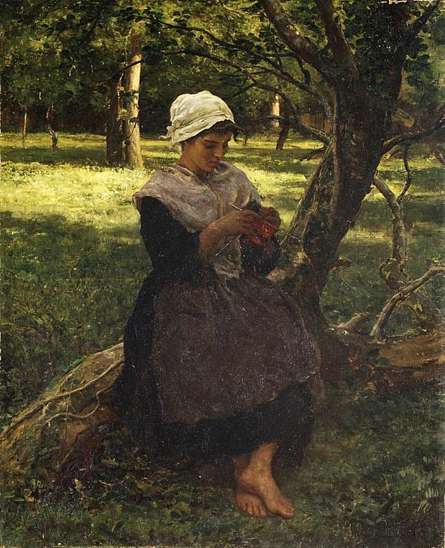 Крестьянка с вязанием.
