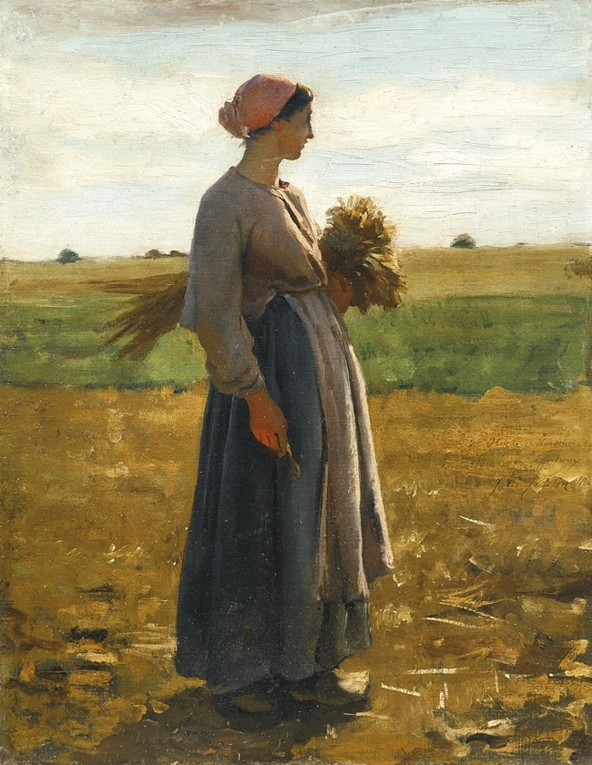 Молодая женщина в поле.