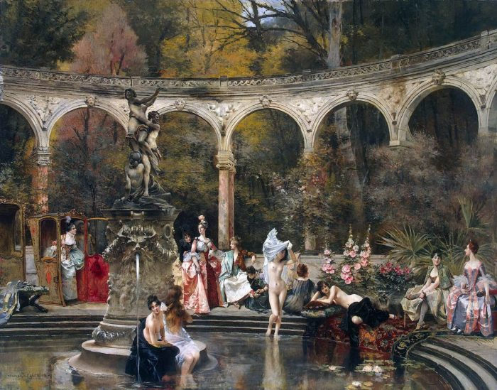 Купание придворных дам в 18 веке