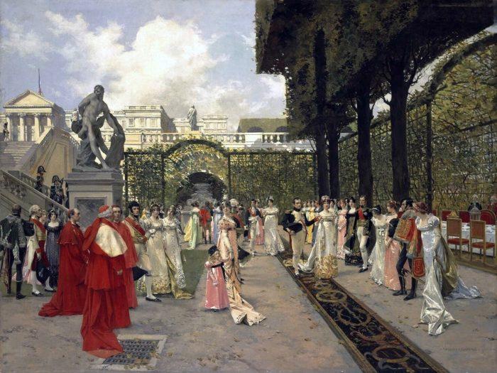 Наполеон I и папа Римский в Сен-Клу в 1811 г.