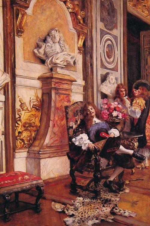 Мольер, требующий аудиенции у короля Луи XIV в Версале