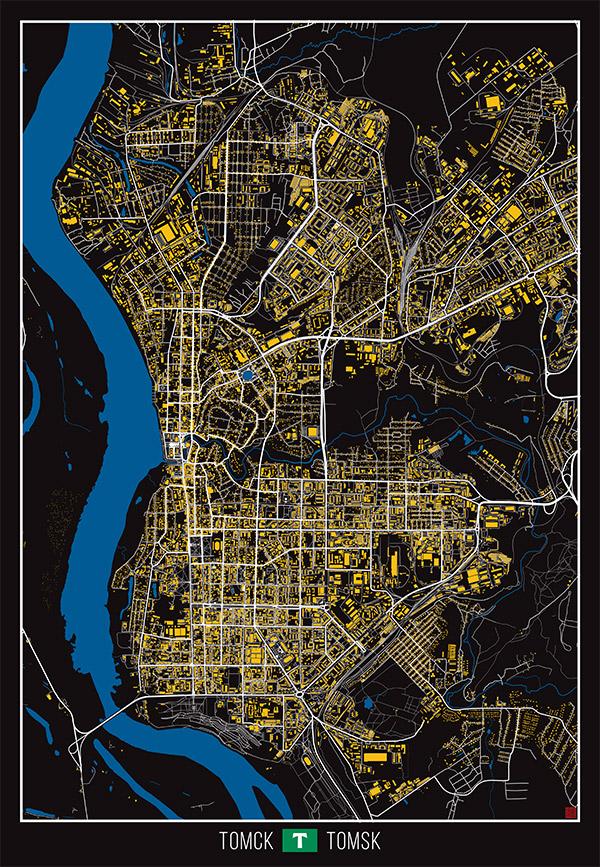 томск карта фото