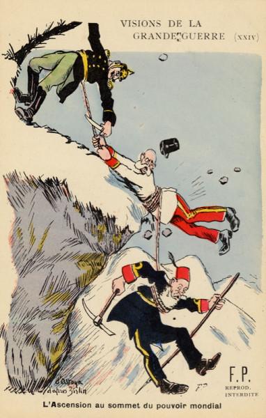 Крах с вершин мирового могущества - Открытка 1918