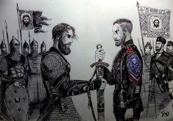Художественный разбор одного белогвардейского рисунка из паблика «Белое дело»