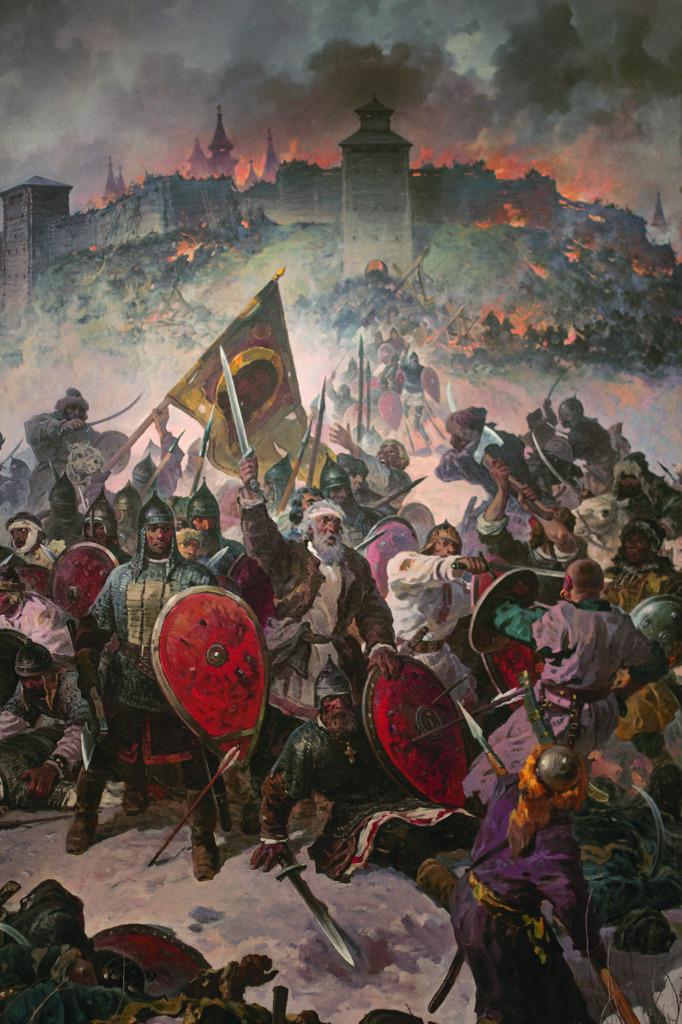 Фрагмент диорамы «Оборона Козельска в 1238 г.»