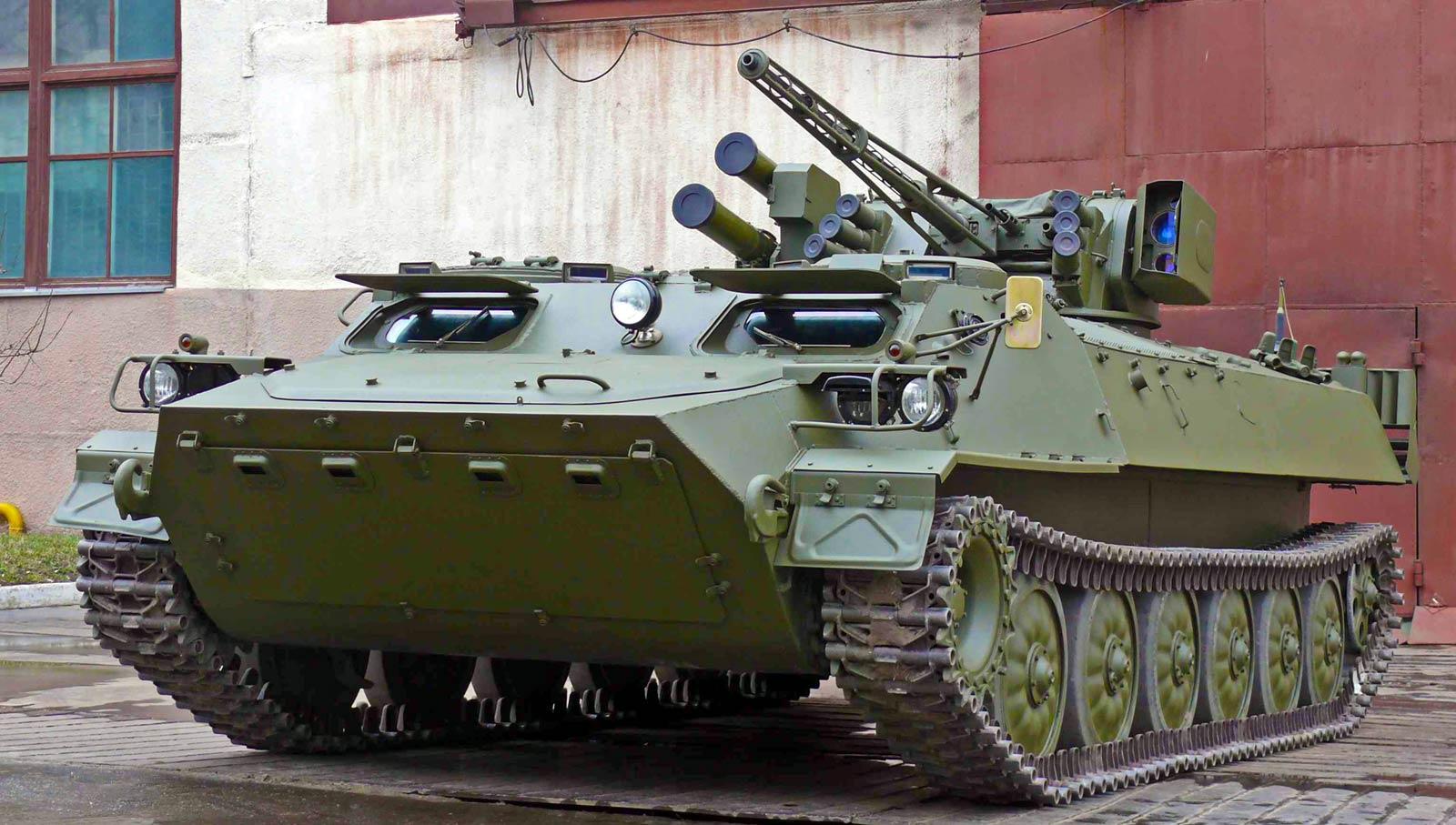 Приведу в пример картинку украинской вариации МТЛБ-МШ: пулемёт 7,62, ПТУР есть.